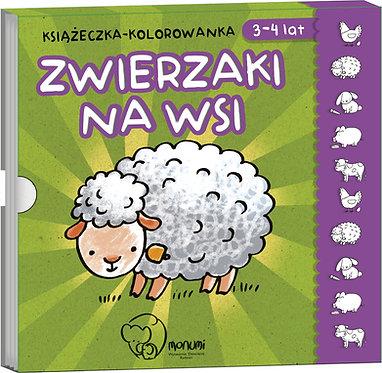 """Kolorowanka-harmonijka """"Zwierzaki na wsi"""" MONUMI"""