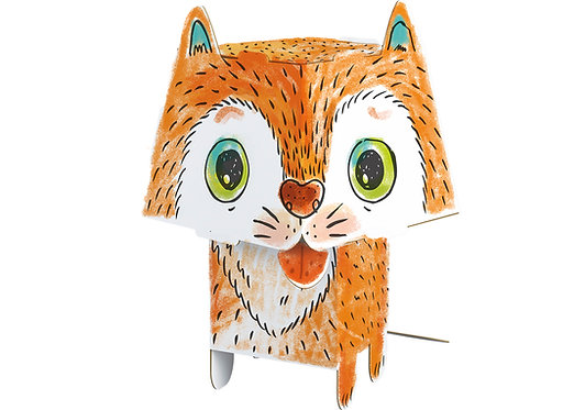 "Construction kit ""Cat"" MONUMI CUBE HEAD"