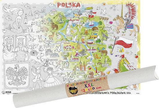 "Colouring sheet ""Map of Poland"" XXL MONUMI"