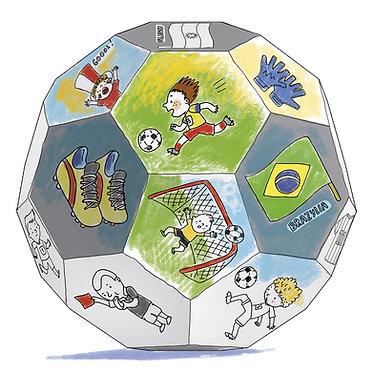 "Toy-colouring book  ""Football"" XXL MONUMI"