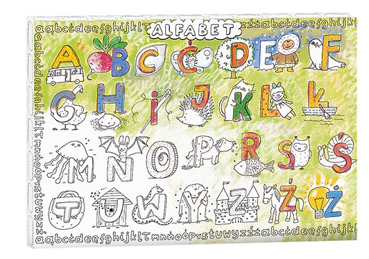 "Colouring Frame XXL  ""Alphabet"" MONUMI"