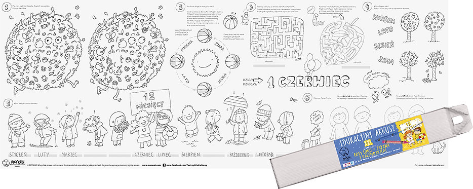 "Educational Drawing Board  ""Seasons"" XXL MONUMI"