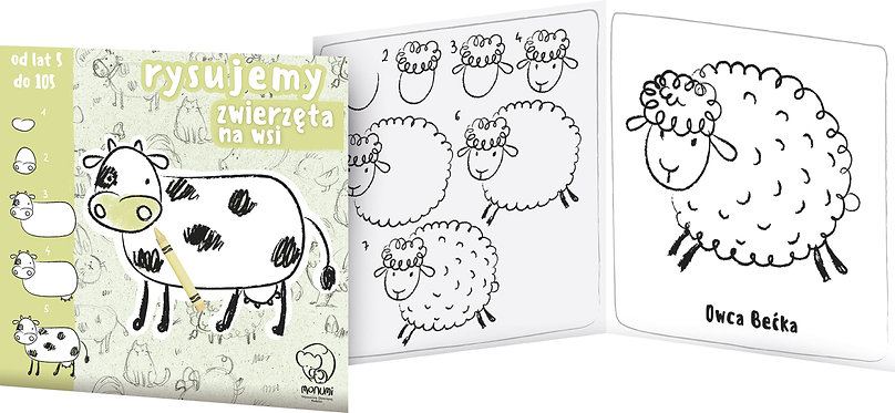"Book ""Let's draw animals "" MONUMI"