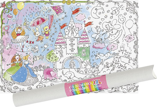 "Colouring sheet  ""Princess' Castle"" XXL MONUMI"