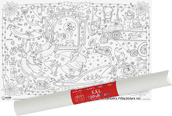 "Colouring sheet  ""Gift factory"" XXL MONUMI"