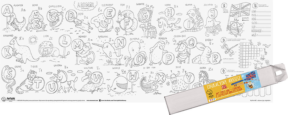 "Educational Drawing Board ""My first ABC; Fun with English"" XXL MONUMI"