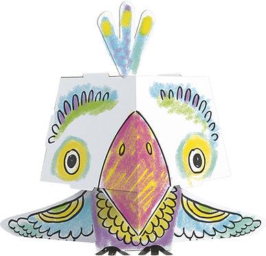 """Kolorowanka-składanka """"Papuga"""" MONUMI CUBE HEAD"""