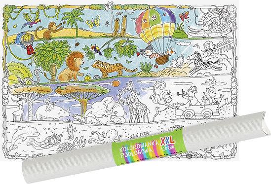 "Colouring sheet ""Safari"" XXL MONUMI"