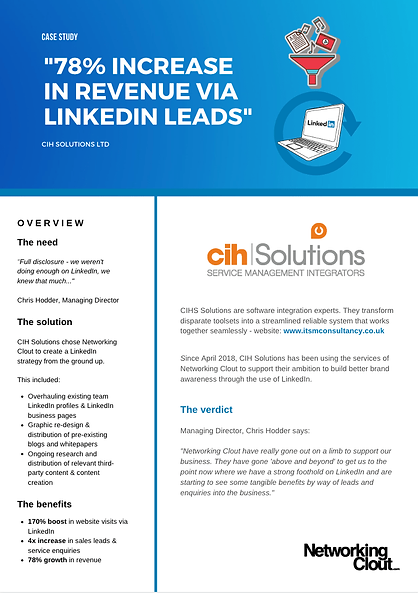 Networking Clout | Case Study | CIH Solu
