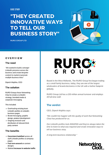 Networking Clout | RURO Group | Case Stu