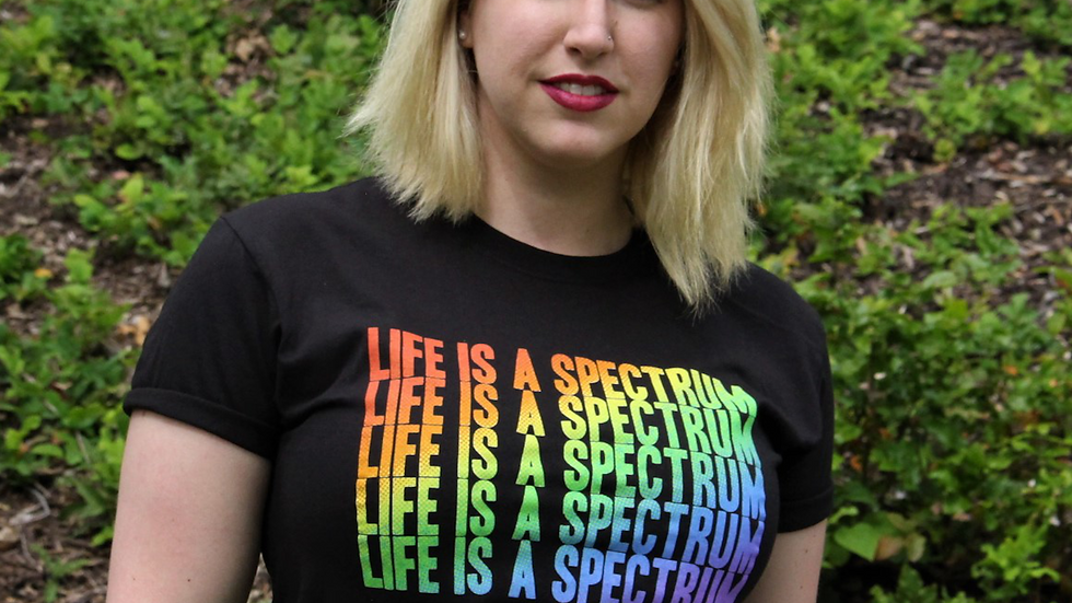 Life is a Spectrum T-Shirt (Rainbow)