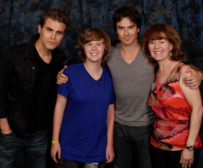 A young Josh and my mom with the Salvatore boys