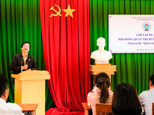 Tập huấn Hội đồng Quản trị HTX - Liên Minh HTX tỉnh Lâm Đồng tổ chức.