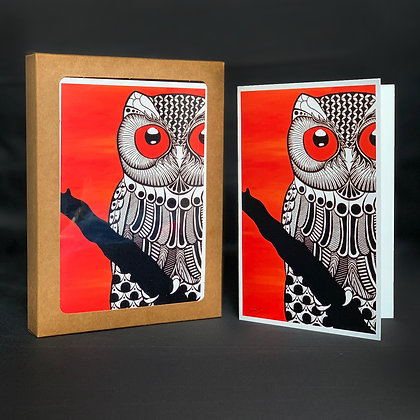 Owlfred 4x6 Note Cards - 10 Pack