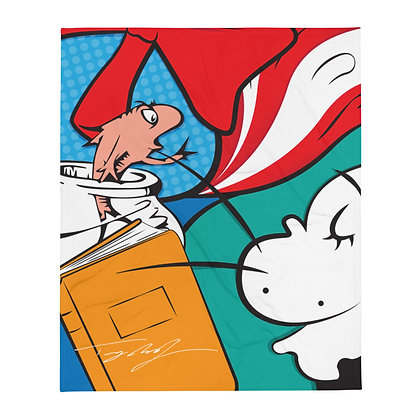 Cat in the Hat Throw Blanket