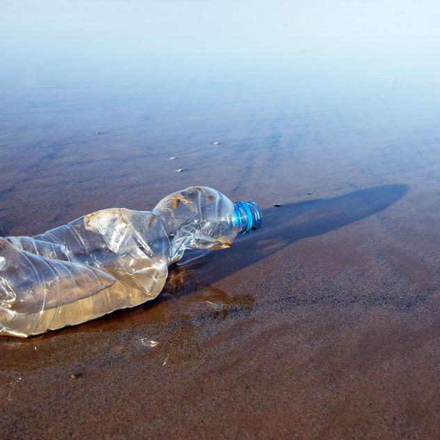 Plastic bottle on the beach