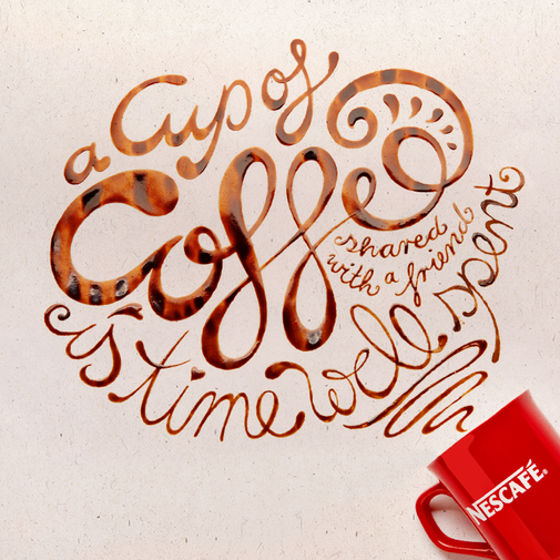Social Content Idea & Artwork · Coffee Illustration