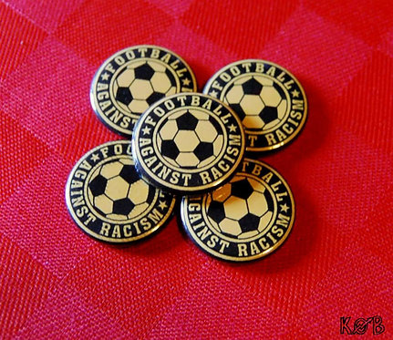 FOOTBALL AGAINST RACISM Button