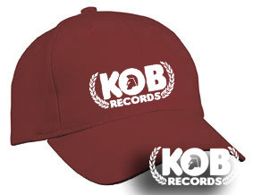 KOB RECORDS Cap Burgundy