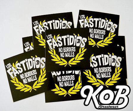 LOS FASTIDIOS NO BORDERS NO WALLS (30 Stickers)