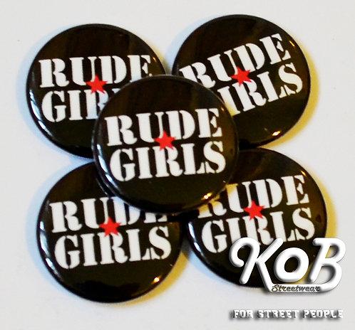 RUDE GIRLS Button
