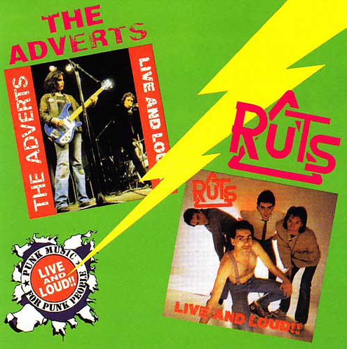 ADVERTS (THE) / RUTS - Live and Loud CD