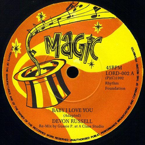 "DEVON RUSSELL / SKAVILLE TRAIN - Baby I Love You / She's Gone Away EP 7"""