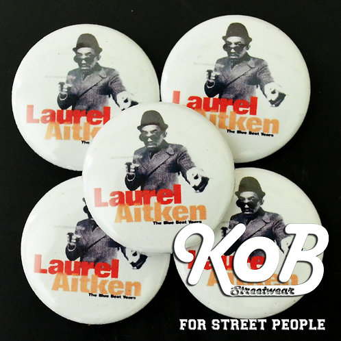 LAUREL AITKEN Button