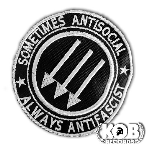 SOMETIMES ANTISOCIAL, ALWAYS ANTIFASCIST Patch / Toppa