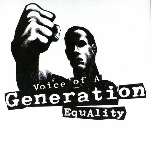 """VOICE OF GENERATION - Equality EP 7"""" (White/Red)"""