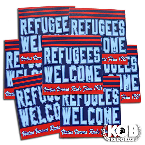 VIRTUS VERONA RUDE FIRM 1921 Refugees Welcome (30 Stickers)