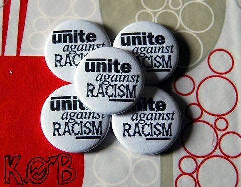 UNITE AGAINST RACISM Button