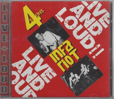 4 SKINS (THE) / INFA RIOT - Live And Loud!! CD