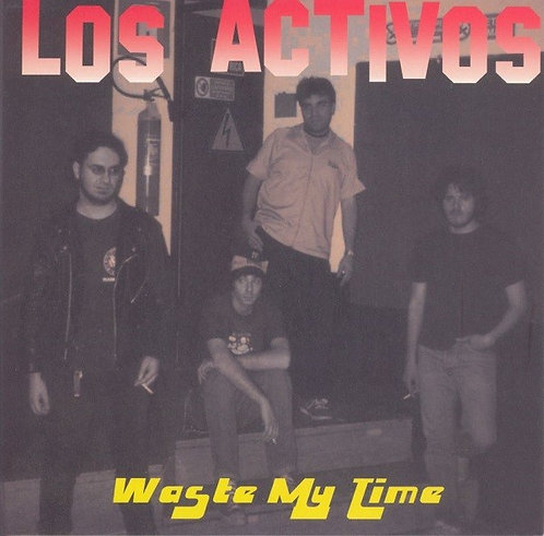 """LOS ACTIVOS / REAL SWINGER -  Get Out Of My House / Waste My Time EP 7"""" (Pink)"""