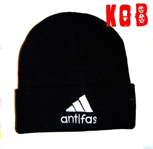 ANTIFAS Black Winter Cap