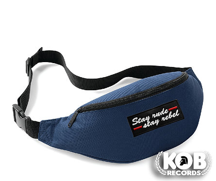 Belt Bag / Marsupio STAY RUDE STAY REBEL Blue