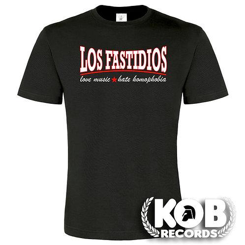 LOS FASTIDIOS LOVE MUSIC, HATE HOMOPHOBIA T-Shirt