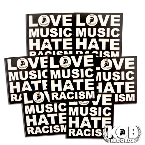 LOVE MUSIC - HATE RACISM (30 Stickers)