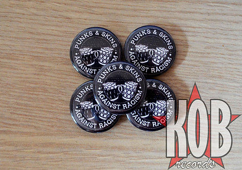 PUNKS AND SKINS AGAINST RACISM Button