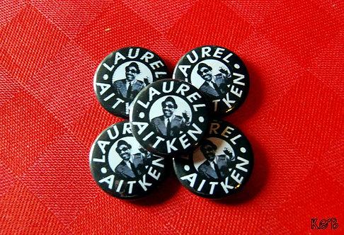LAUREL AITKEN Button
