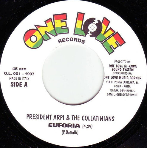 "PRESIDENT ARPI & THE COLLATINIANS - Euforia EP 7"""