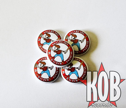 SKINHEADS AGAINST RACISM Button