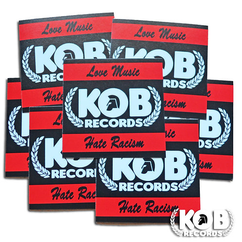 KOB RECORDS Against Racism (30 Stickers)
