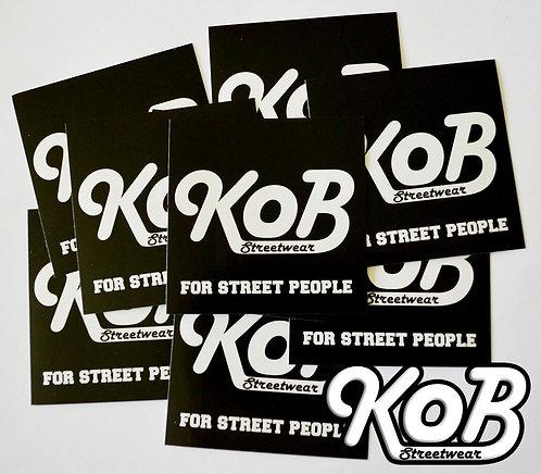 KOB STREETWEAR (30 Stickers)