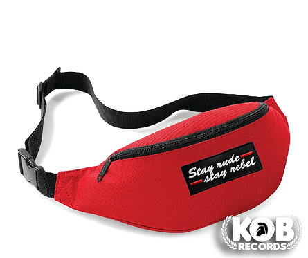 Belt Bag / Marsupio STAY RUDE STAY REBEL Red
