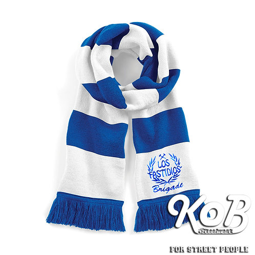 LOS FASTIDIOS Stadium Scarf Bright Royal/White