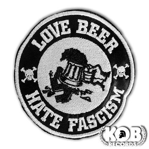 LOVE BEER, HATE FASCISM Patch / Toppa