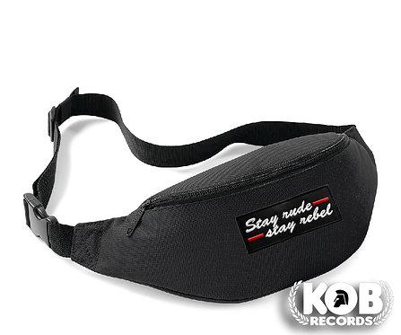 Belt Bag / Marsupio STAY RUDE STAY REBEL Black