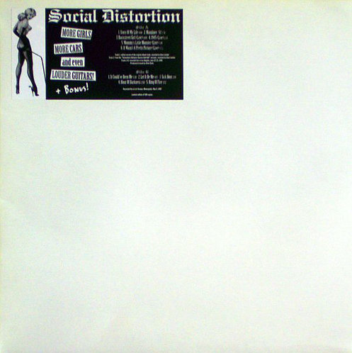 SOCIAL DISTORTION - More Girls More Cars And Even Louder Guitars! LP