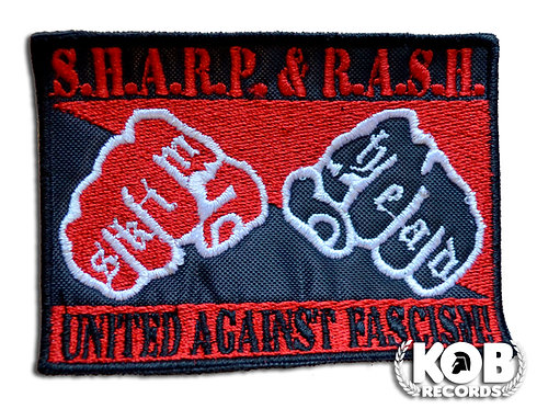 SHARP & RASH AGAINST FASCISM Patch / Toppa